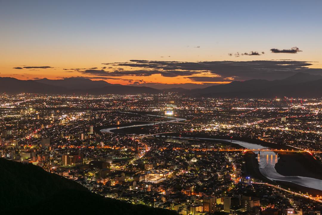 金華山展望台からの夜景