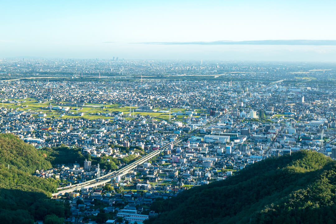 金華山展望台から眺める景色(南側)