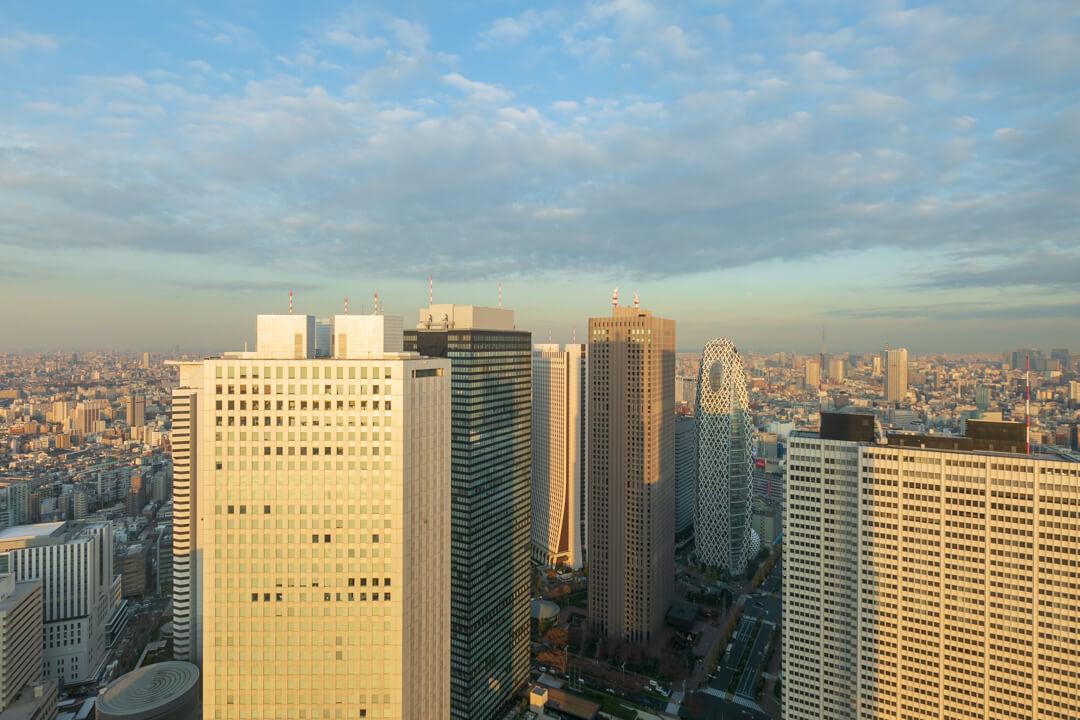 都庁展望台から撮影し北東方向の風景