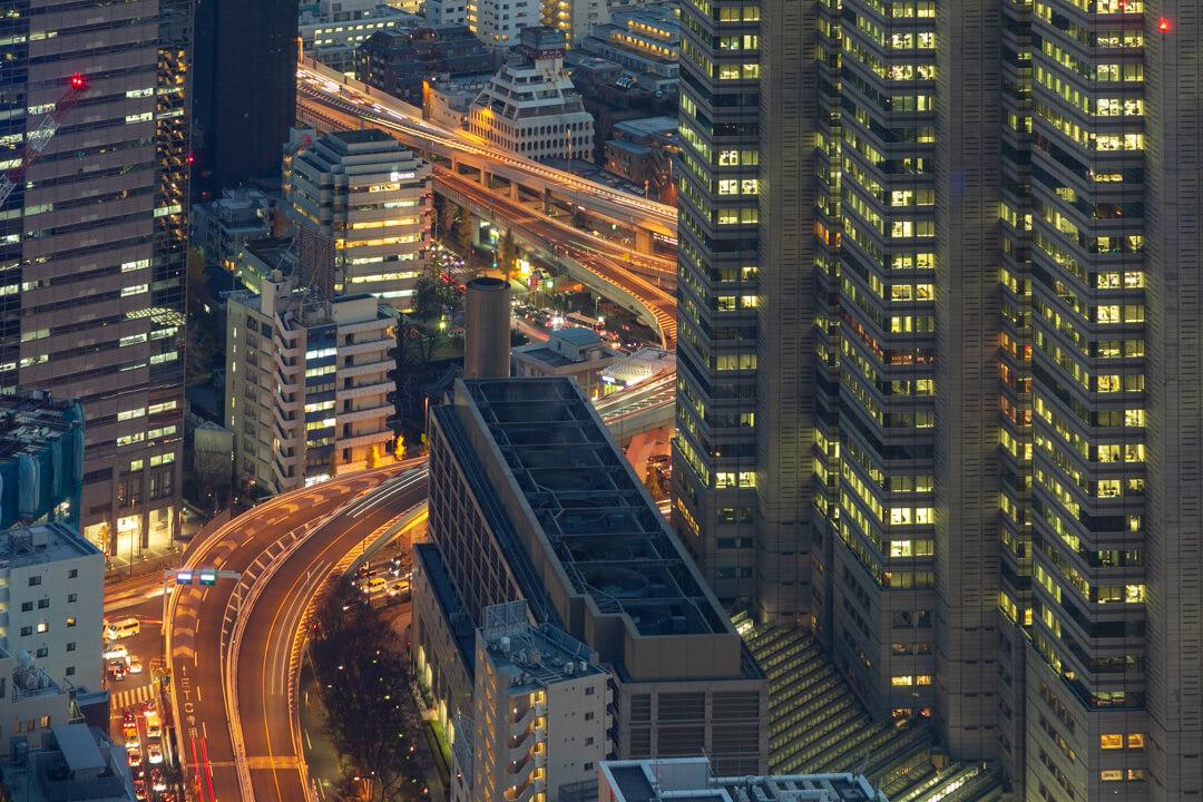 都庁展望台から撮影した夜景の写真