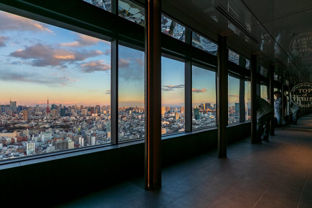 恵比寿ガーデンプレイス展望台・スカイラウンジの様子
