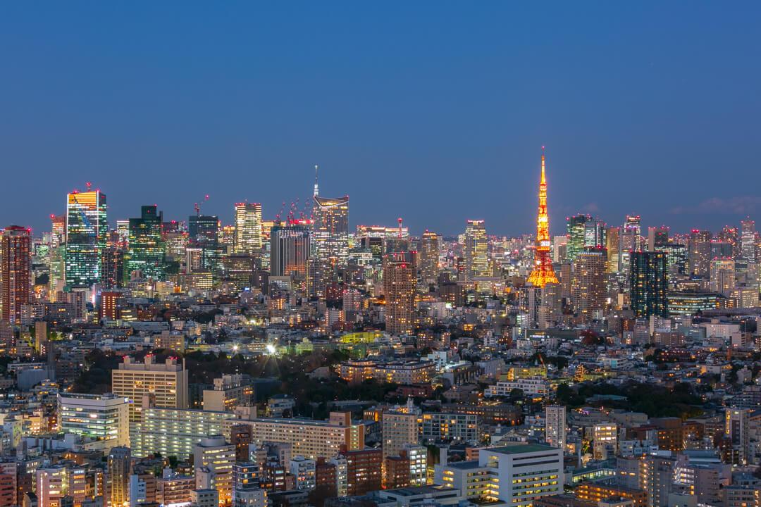 恵比寿ガーデンプレイス展望台・スカイラウンジからの夜景