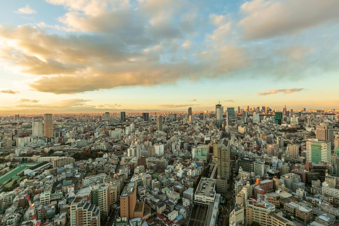 恵比寿ガーデンプレイス展望台からの景色・北側