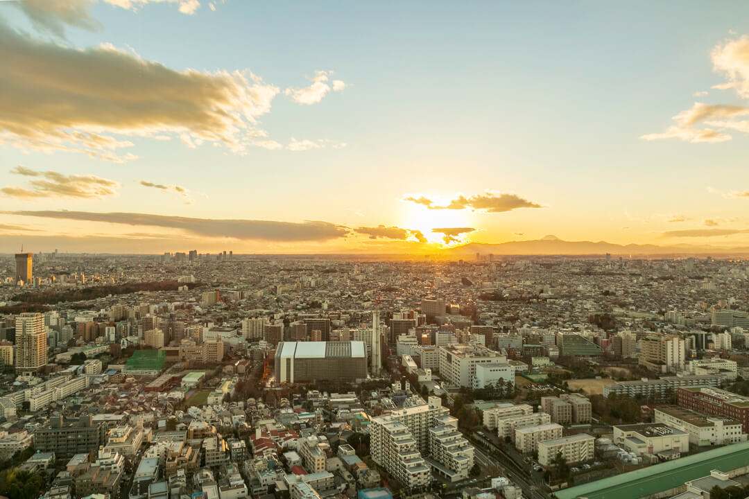 恵比寿ガーデンプレイス展望台からの景色・西側