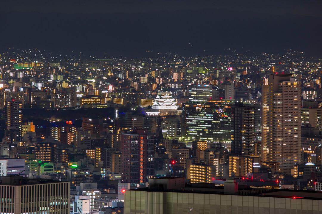 梅田スカイビルの夜景(東側)