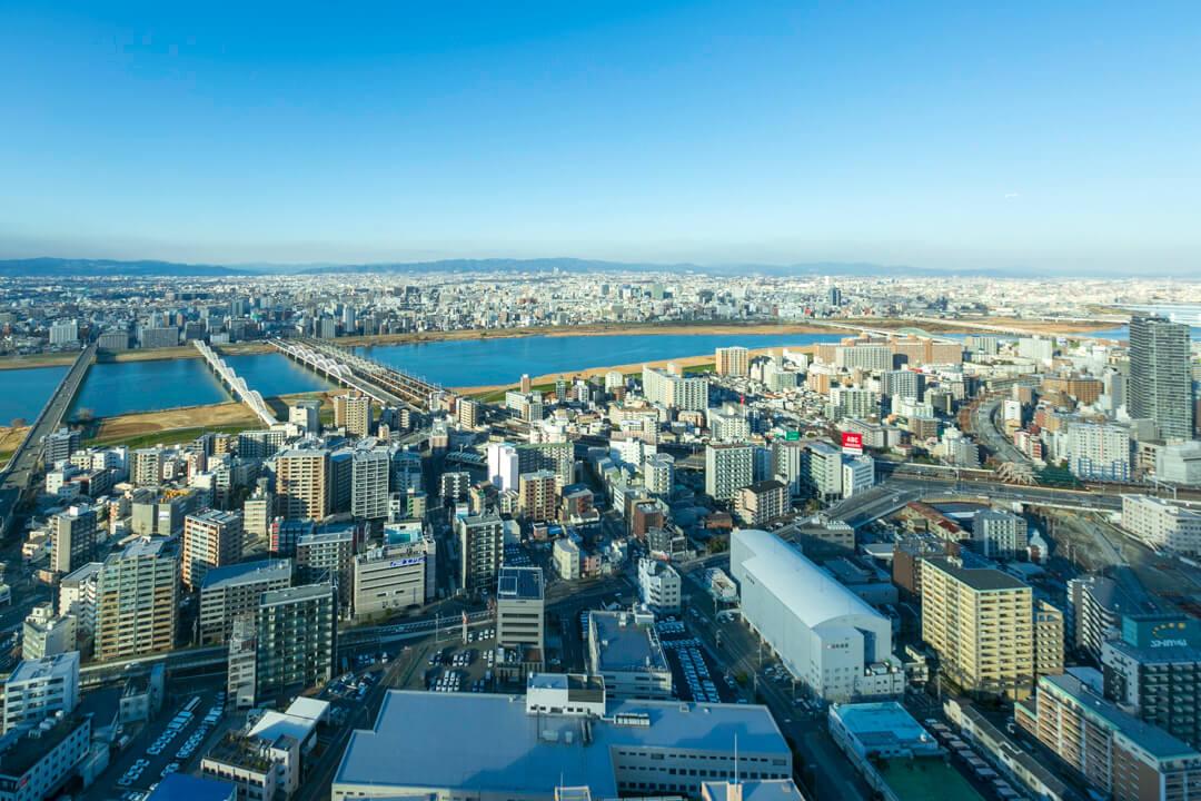 梅田スカイビルの西側の写真