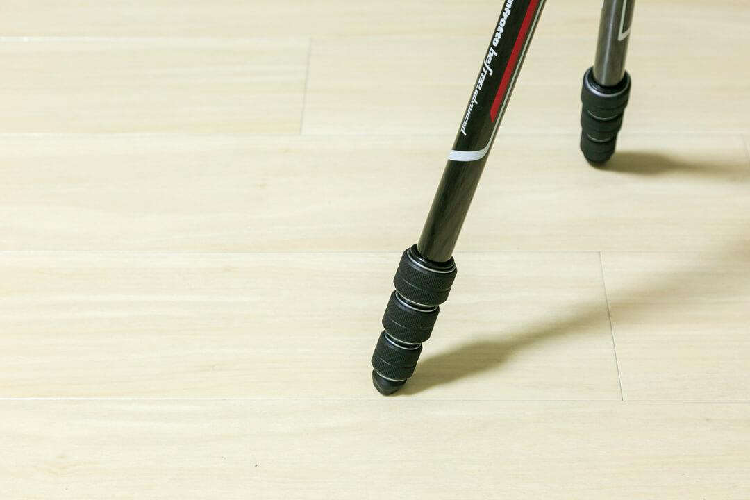 「befreeアドバンス」のツイストロックの脚を撮影した写真