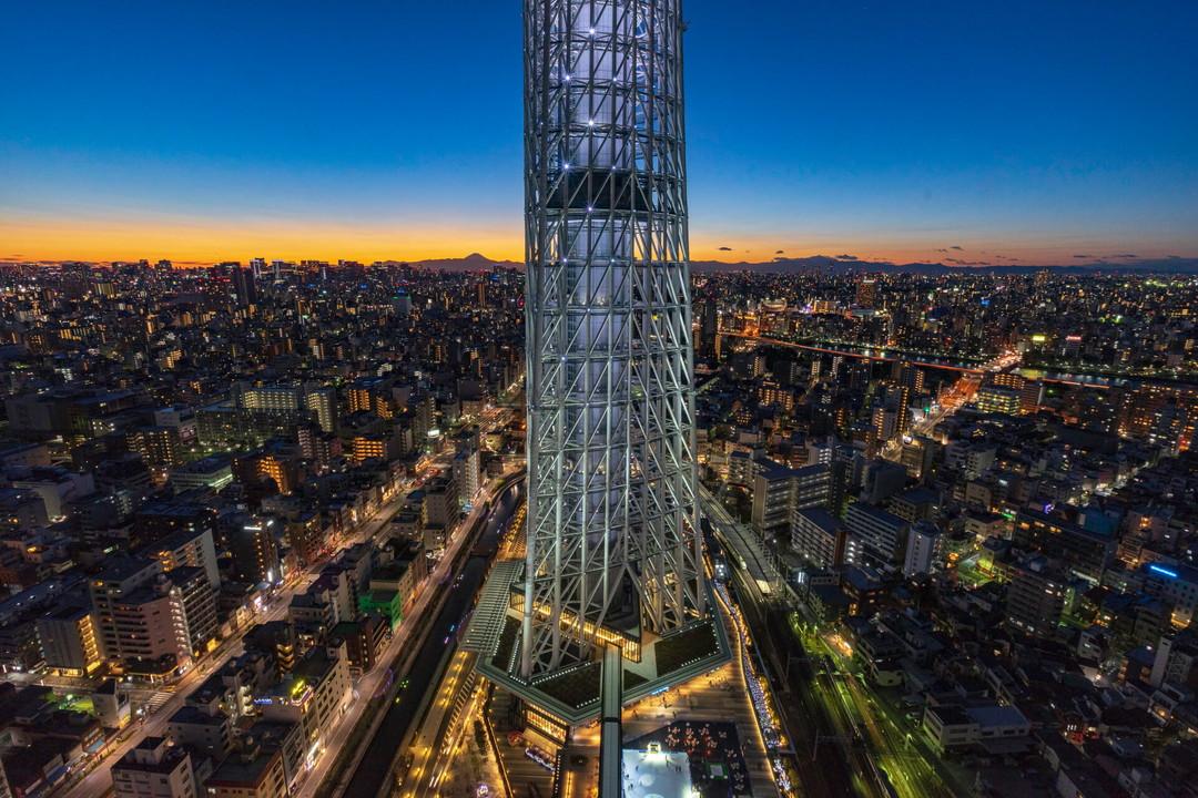 スカイツリーイーストタワー展望台から夜景を撮影してきた