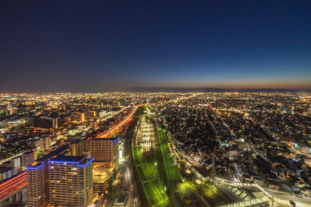 名古屋プリンスホテルから撮影した夕暮れ