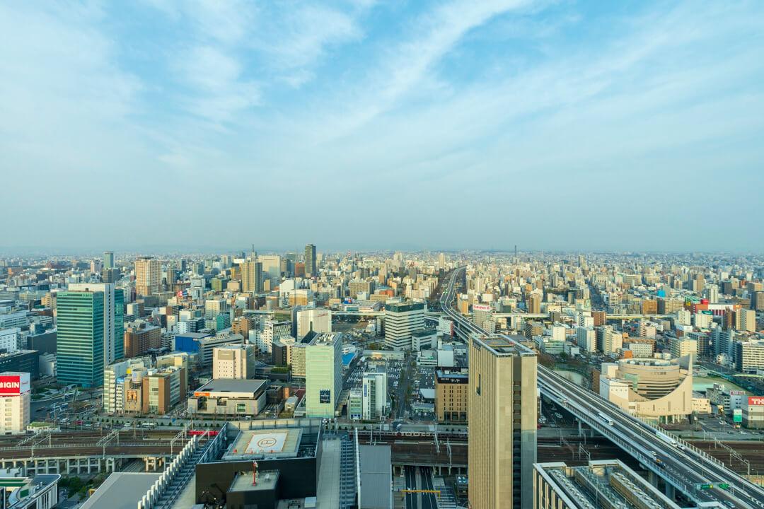 名古屋プリンスホテルから撮影した栄方面の景色