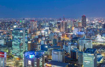 名古屋プリンスホテルスカイタワーから栄方面と中川運河方面の夜景を撮影してきた