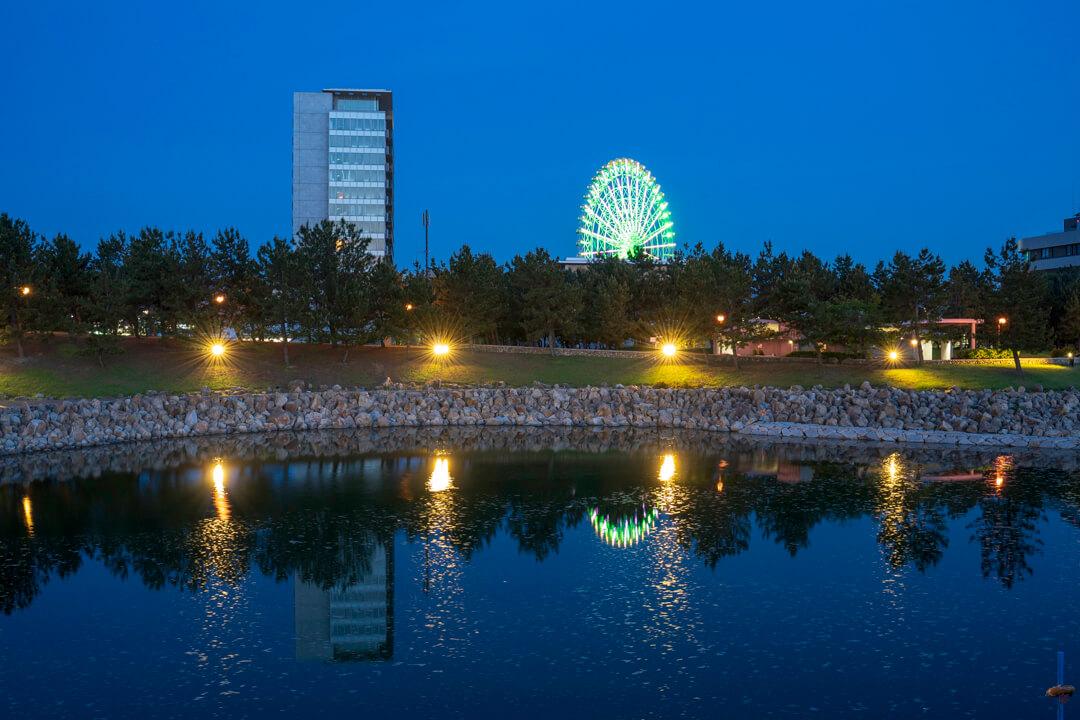 りんくう公園の夜景写真