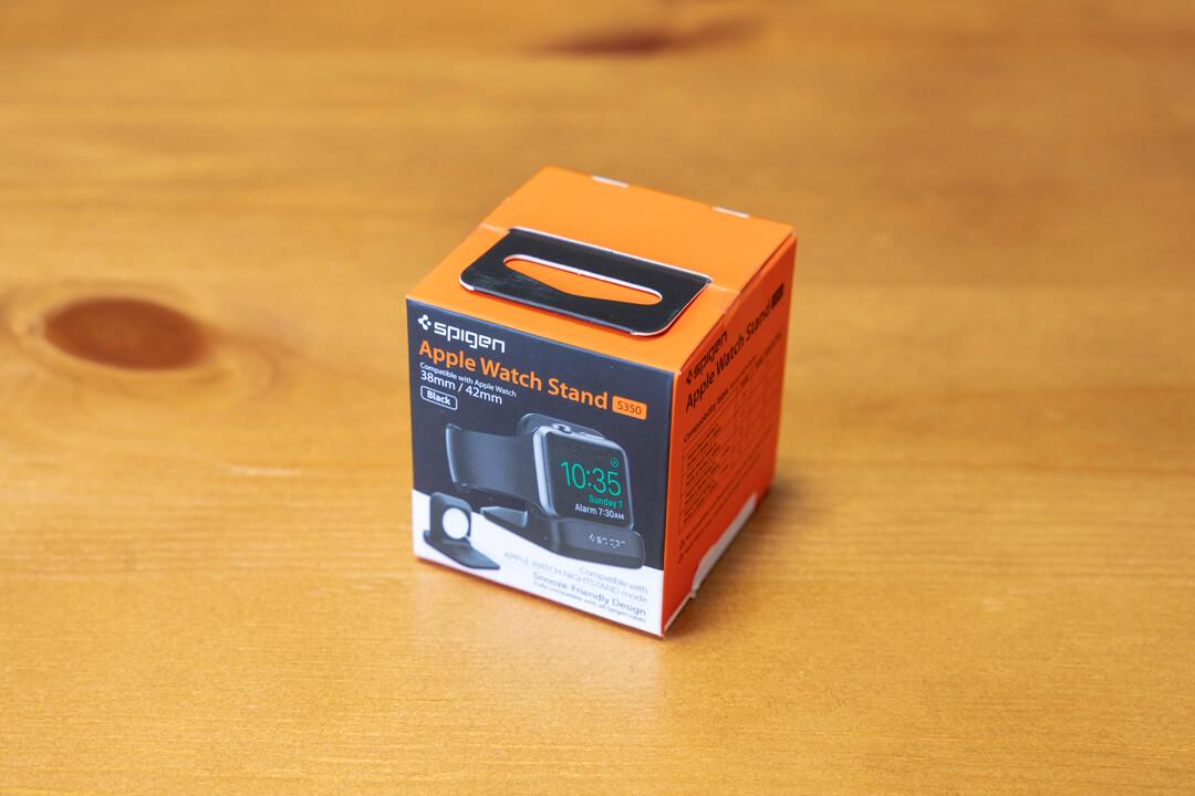 spigenのアップルウォッチ充電スタンドの化粧箱