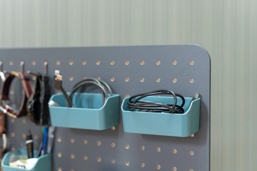 キングジムの卓上収納ボード「PEGGY」の使用例