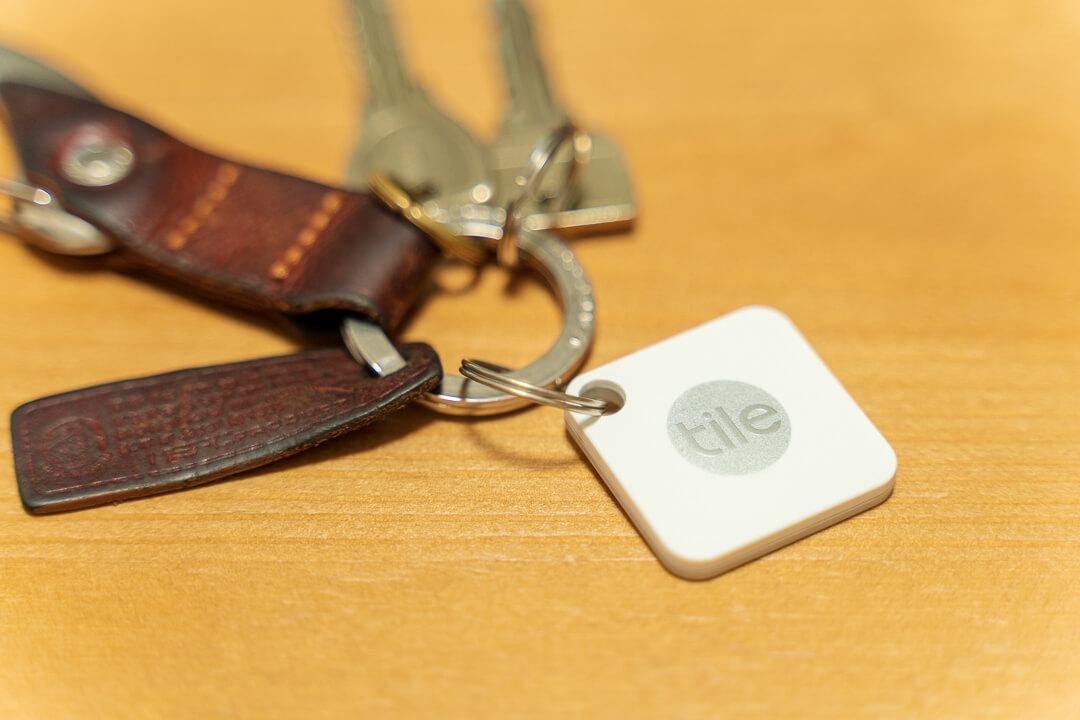 Tile Mateと鍵の写真