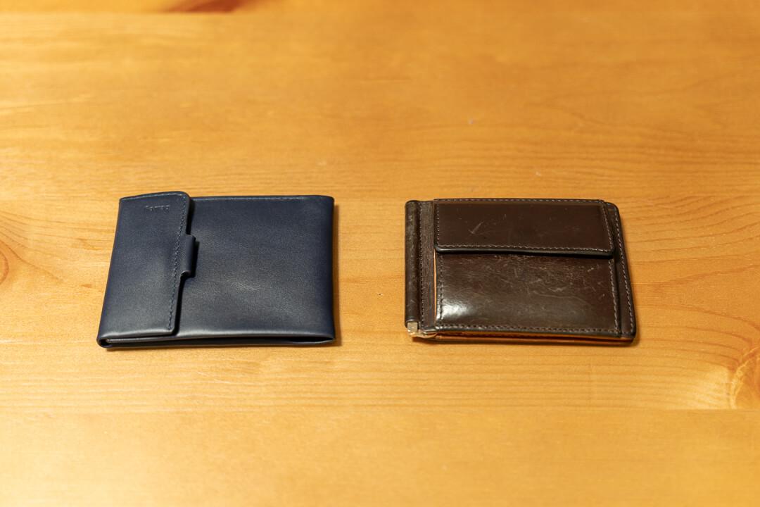 Bellroy(ベルロイ)コインフォールドの大きさを通常の財布と比較