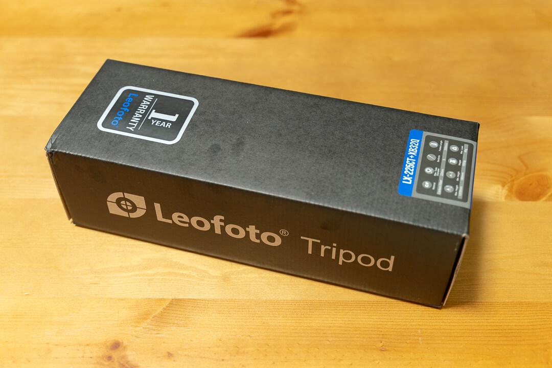 Leofoto LX-225CT+XB-32Qの化粧箱
