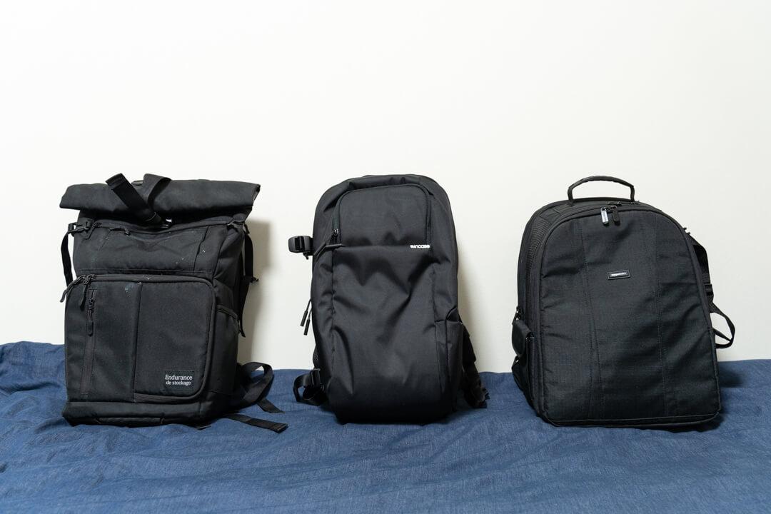 Incase(インケース) DSLR Pro Pack Nylonの大きさを他のカメラバッグと比較