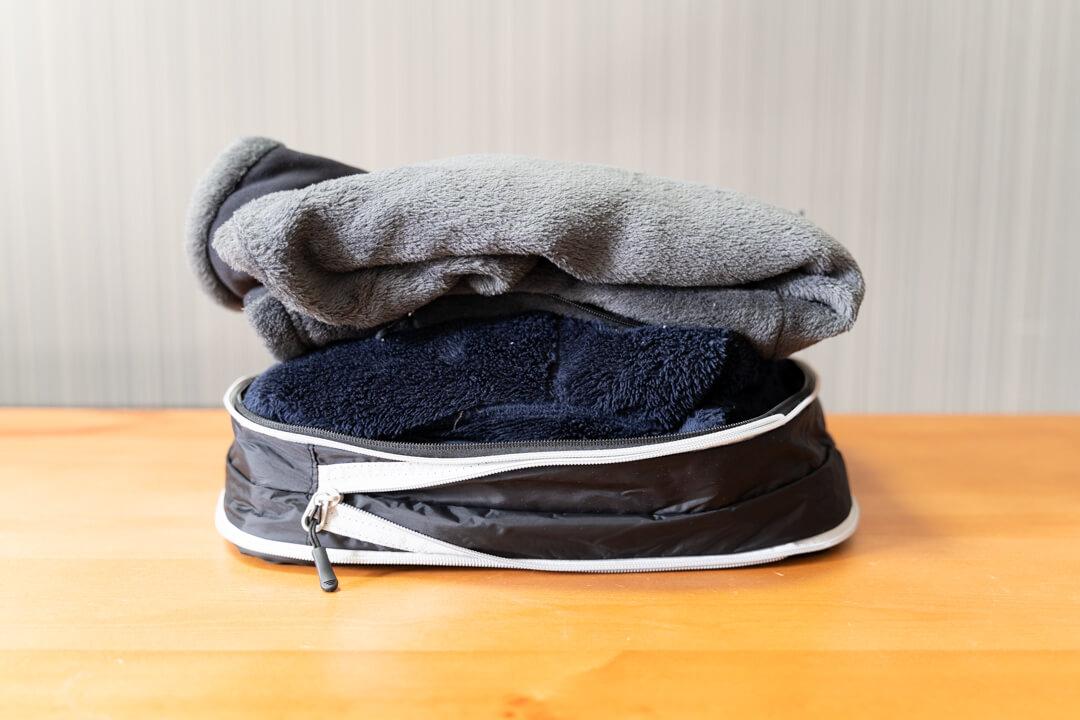 圧縮前の衣類たち