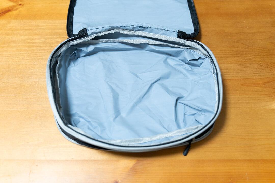 トラベラブ圧縮バッグの収納スペース