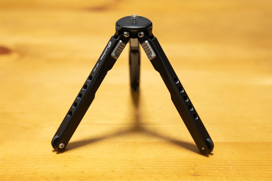 Leofoto MT-03の脚の開閉角度