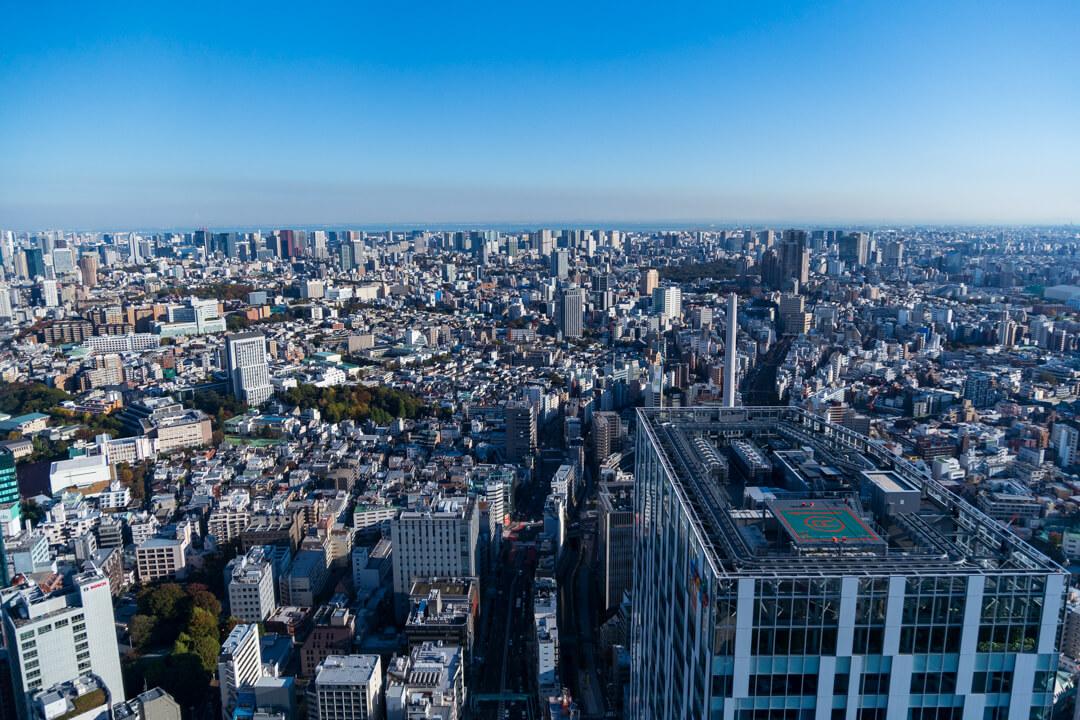 渋谷スクランブルスクエア展望台・渋谷スカイからの景色・北側