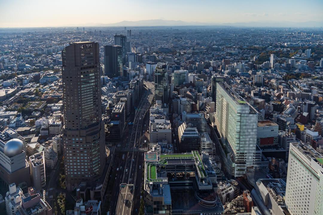 渋谷スクランブルスクエア展望台・渋谷スカイからの景色・西側