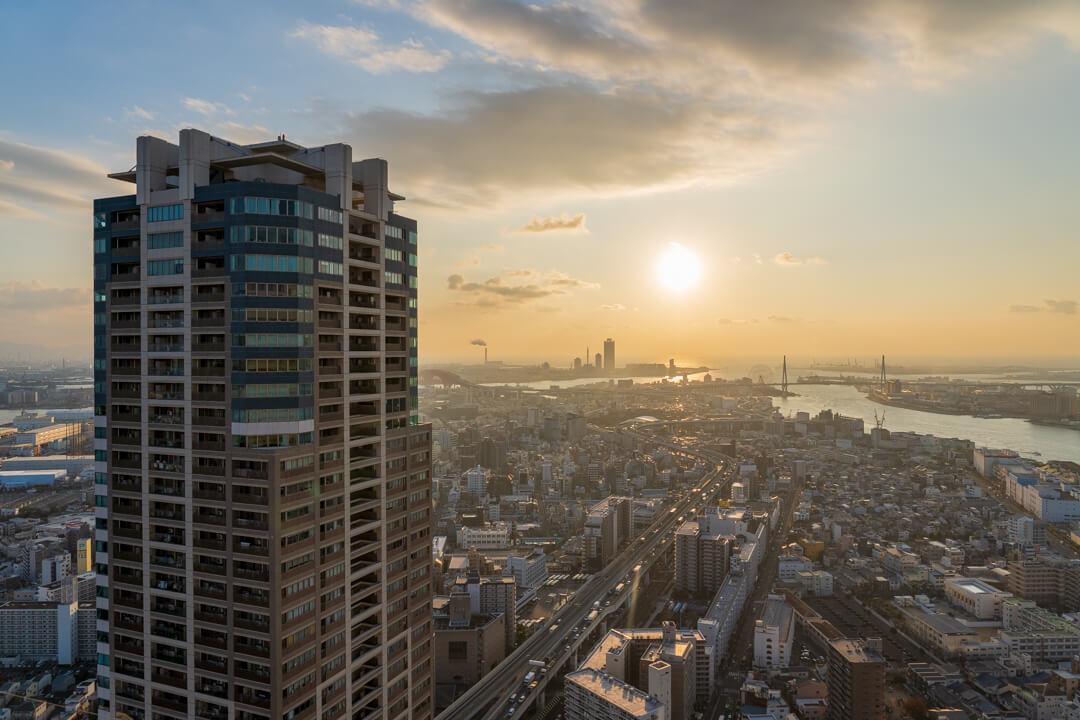 アートホテル大阪ベイタワー海側の景色