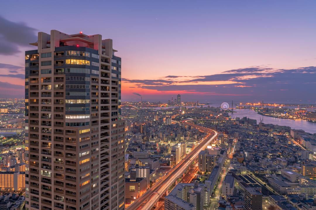 アートホテル大阪ベイタワーから撮影した夜景