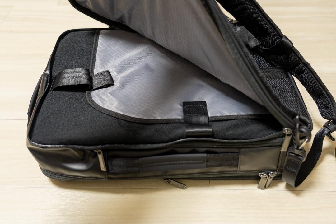 ガジェタブルの背面ポケット