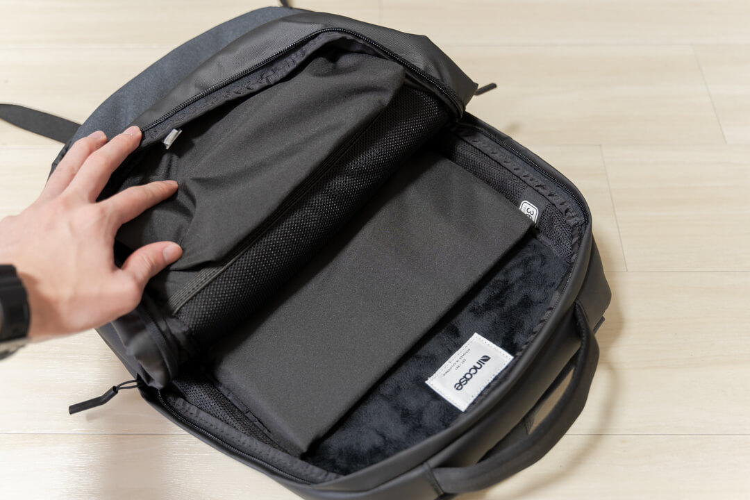 Incase city compact backpackのメイン収納スペース
