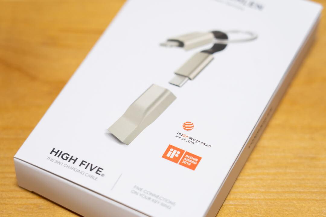 5in1充電ケーブル HIGH FIVEのパッケージ