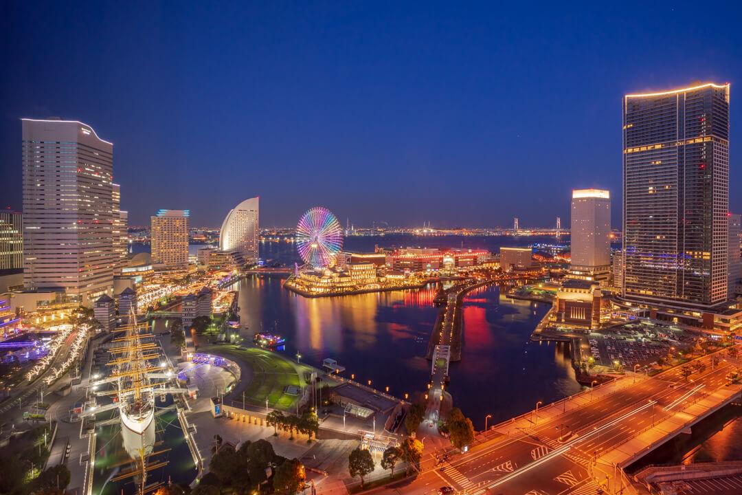 ニューオータニイン横浜プレミアムから撮影した夜景
