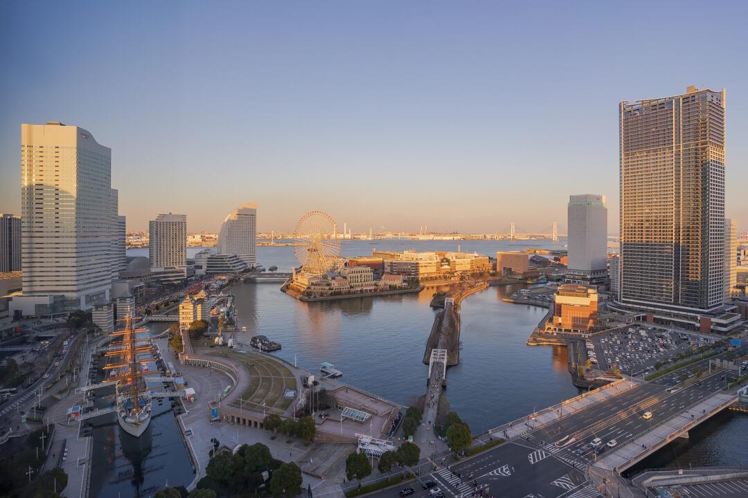 ニューオータニイン横浜プレミアムの客室からの景色