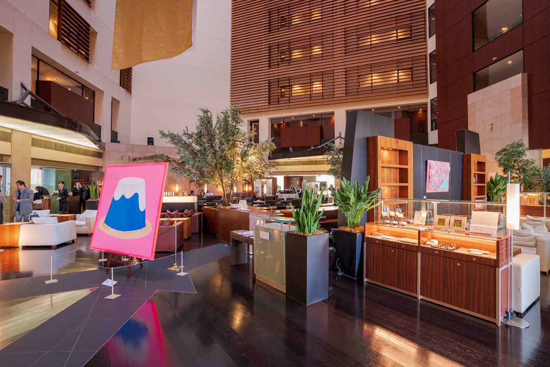 パークホテル東京のロビーの雰囲気