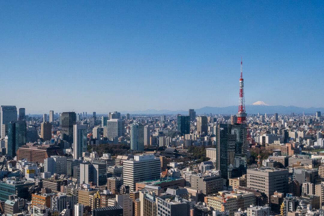 パークホテル東京から見た東京タワー