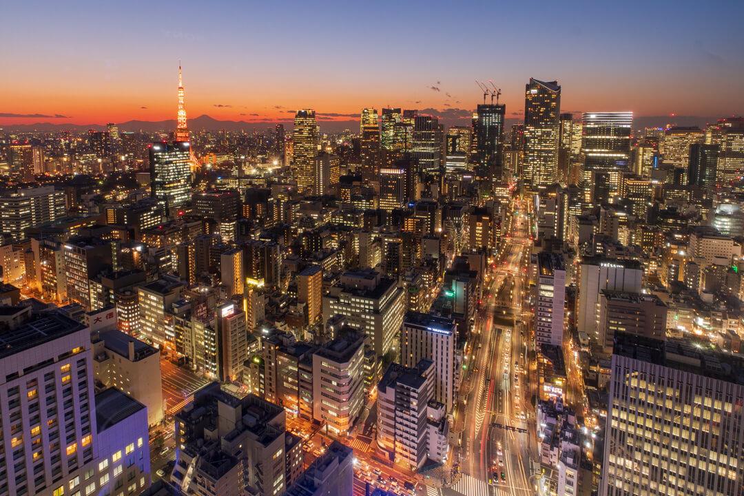 パークホテル東京から眺める夜景