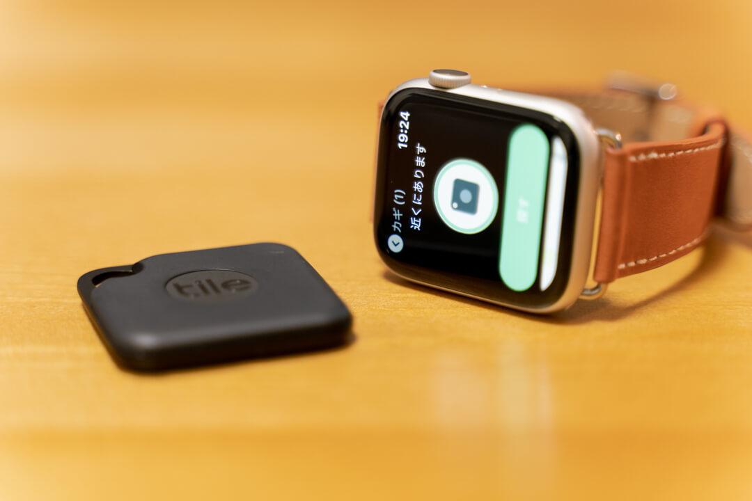 Tile ProとApple Watchのアプリ画面