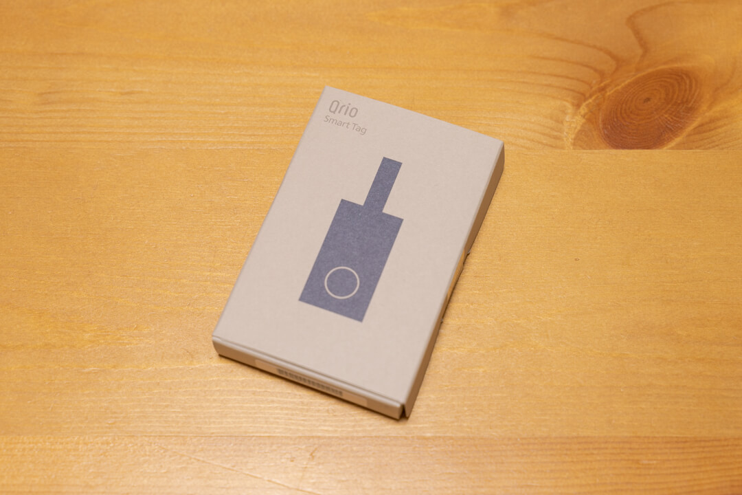 Qrio(キュリオ)スマートタグのパッケージ