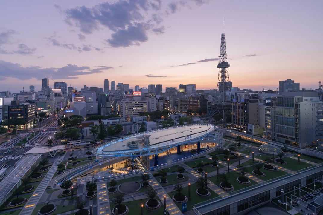 愛知芸術文化センターから撮影した夕景