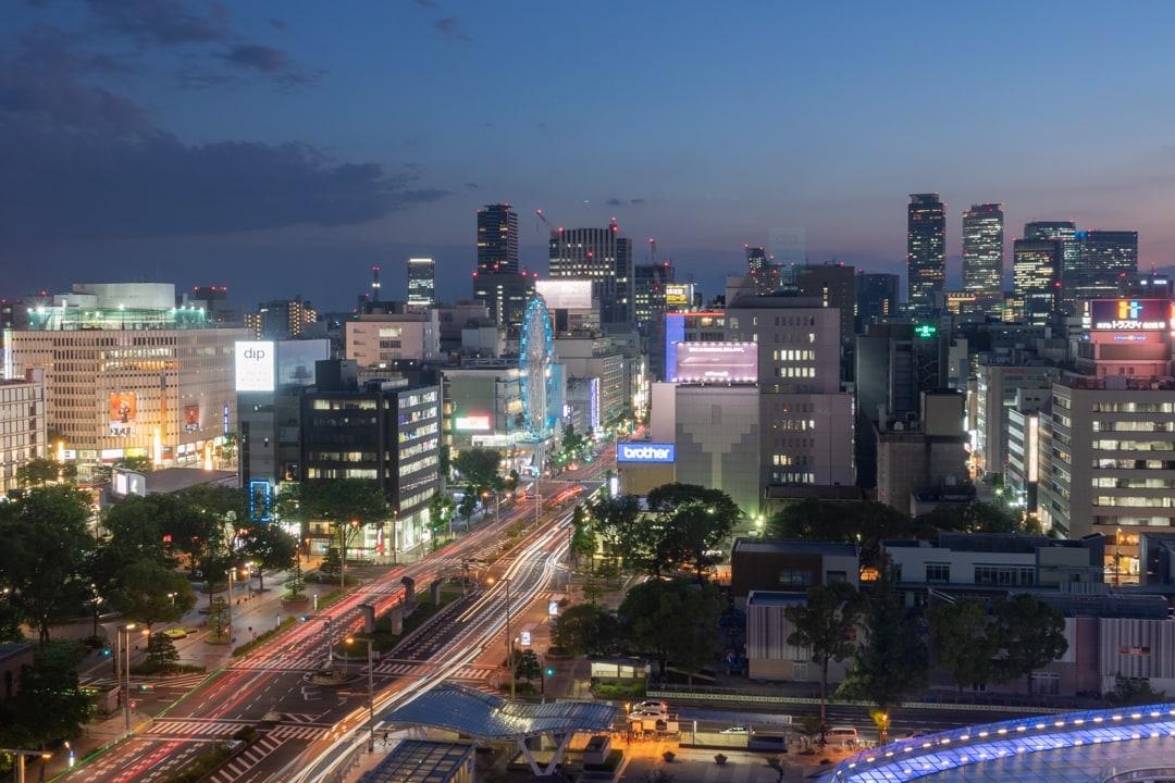 愛知芸術文化センターから撮影したサンシャイン栄の観覧車