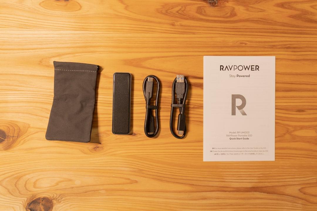RAVPower RP-UM003の付属品一覧