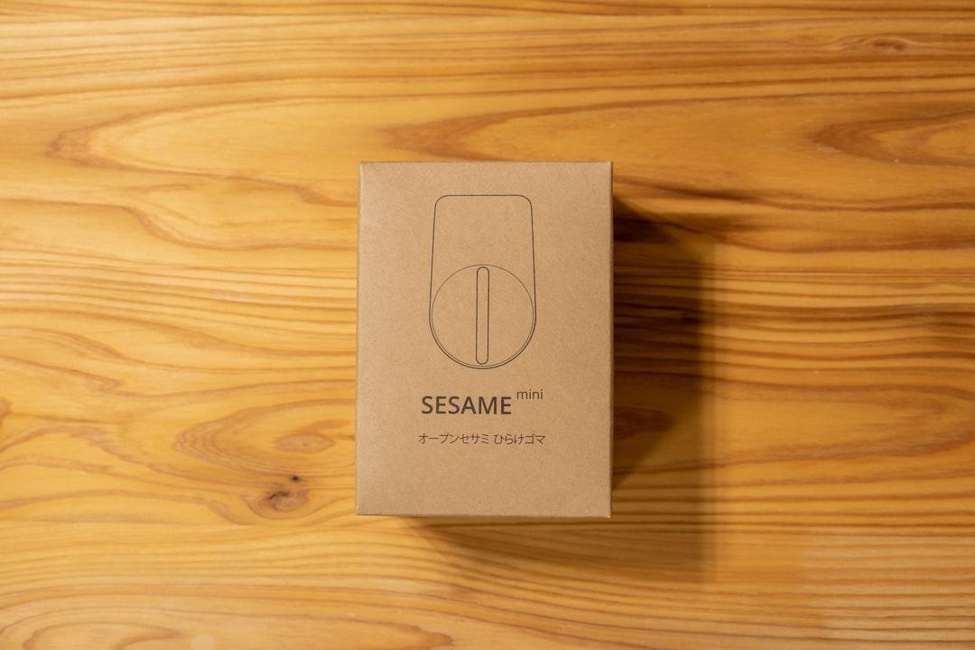 Sesami miniのパッケージを開封した写真