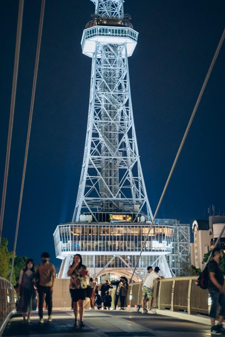 セントラルブリッジの上から撮影した名古屋テレビ塔