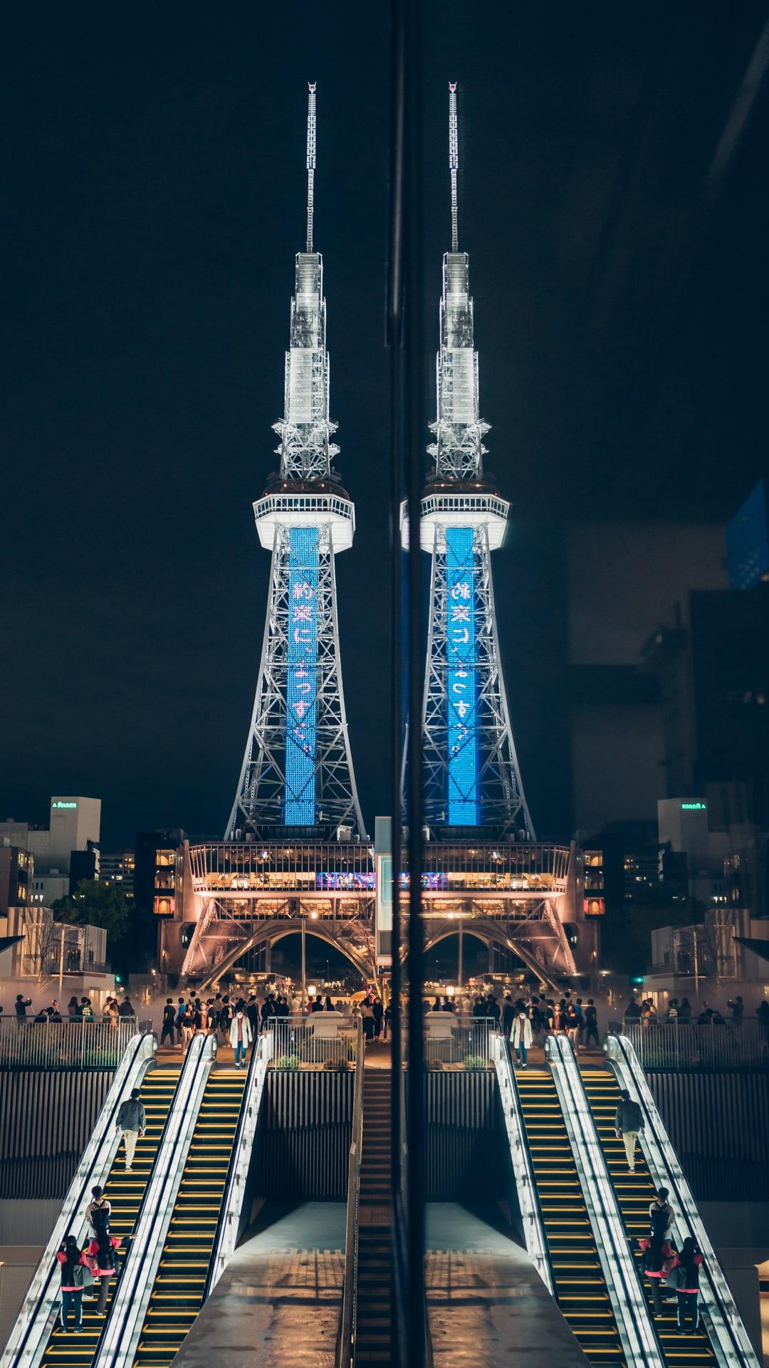 久屋大通公園ミズベ広場から撮影したリフレクション