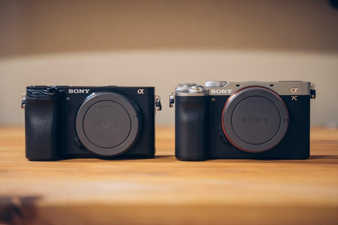α7Cとα6400の大きさを比較した写真撮影した写真