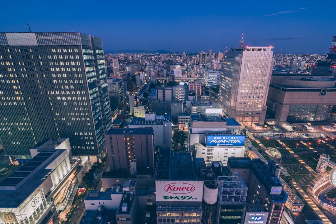 名古屋テレビ塔東方向を眺望を撮影した写真