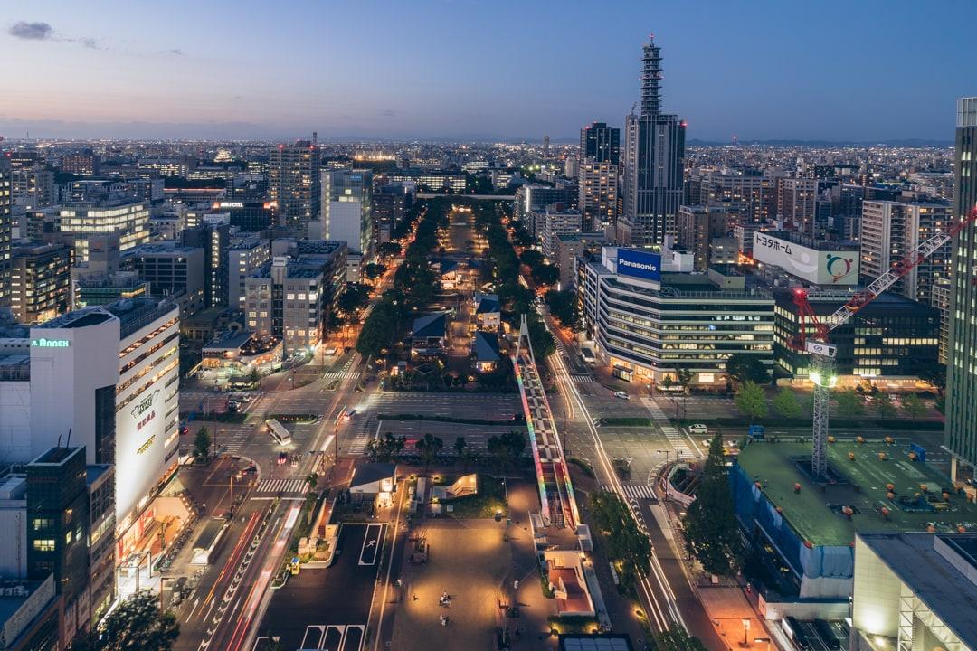 名古屋テレビ塔北方向を眺望を撮影した写真