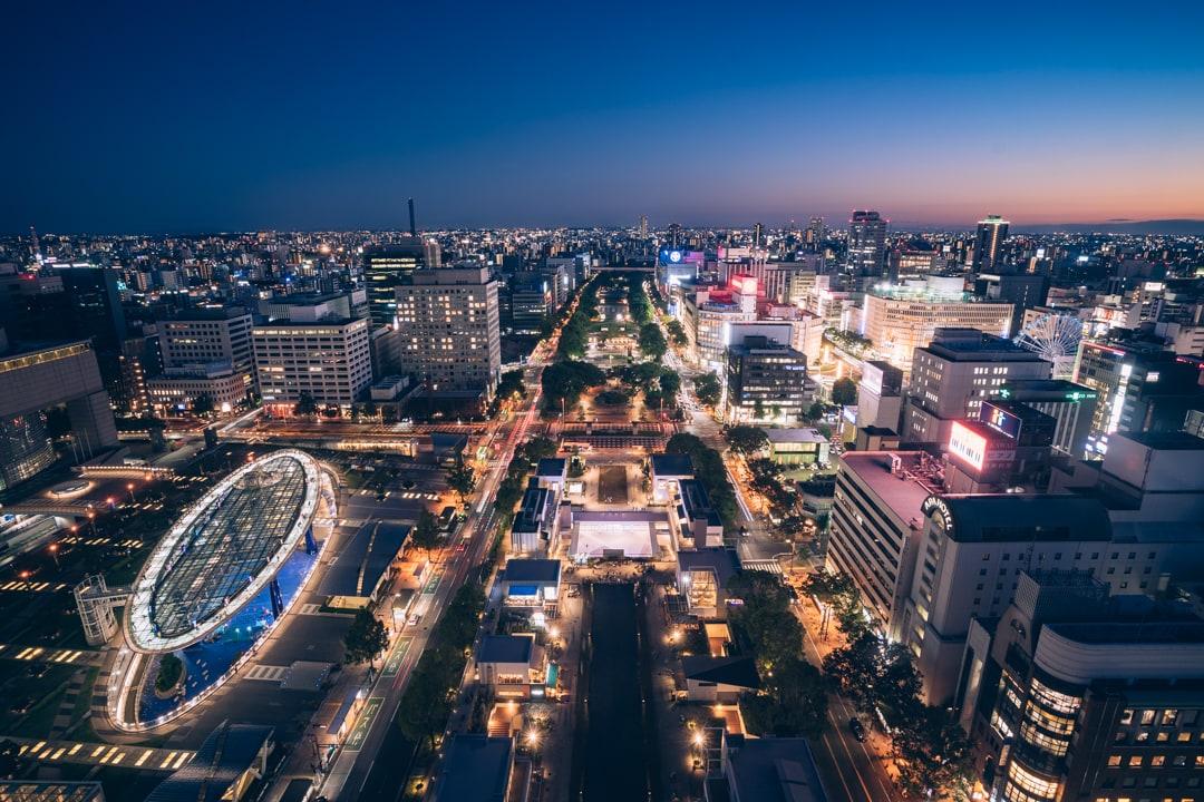 名古屋テレビ塔南方向を眺望を撮影した写真