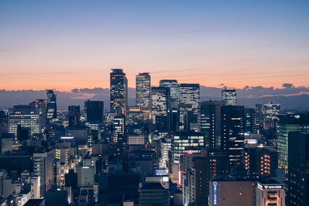 名古屋テレビ塔「スカイデッキ」から撮影した夜景